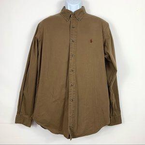Ralph Lauren Men's shirt Elbow Patch Buttons L